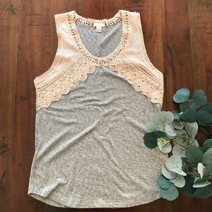 J.Crew Factory Chiffon and Lace Top